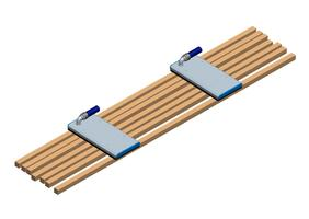 Timber plank vacuum gripper